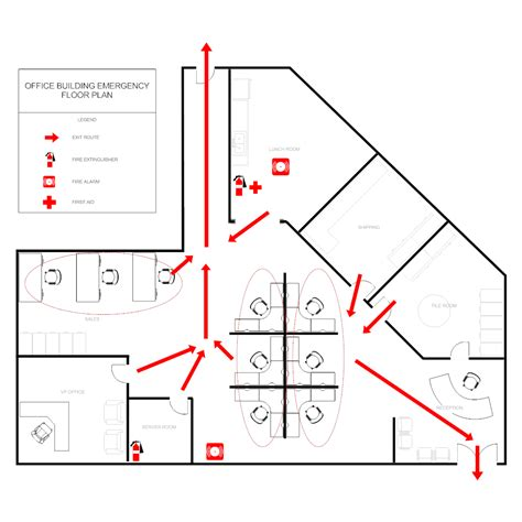 Office Evacuation Plan Emergency Evacuation Route Template