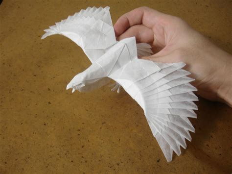 How To Make An Origami Eagle - 20 beautiful and intricate origami pieces of crafts