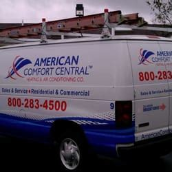 american comfort heating and air american comfort central heating air conditioning get