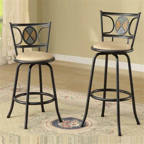 counter or bar height stools set of 2 bar pub counter height barstools swivel