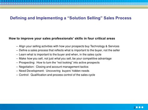 solution selling methodology training