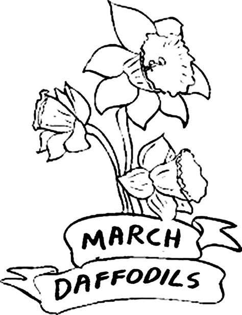 Flowers Of The Month Coloring Pages | flower coloring page of the month march coloring pages