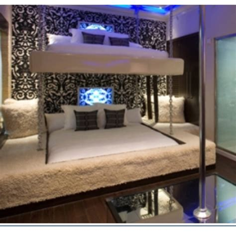 freaky bedroom ideas fancy king sized bunk bed stripper pole optional bunk