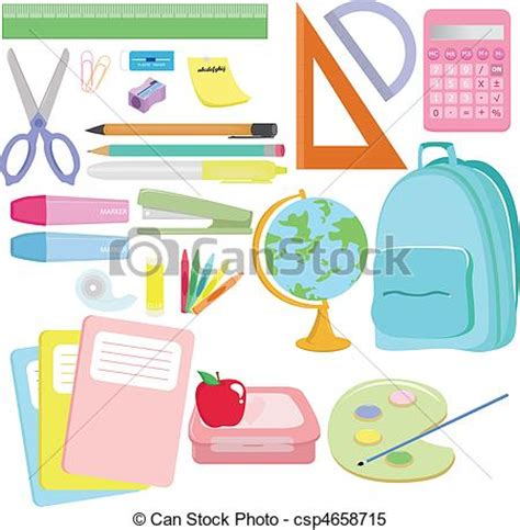school supplies illustration inspiration pinterest clipart vector of school supplies a vector illustration