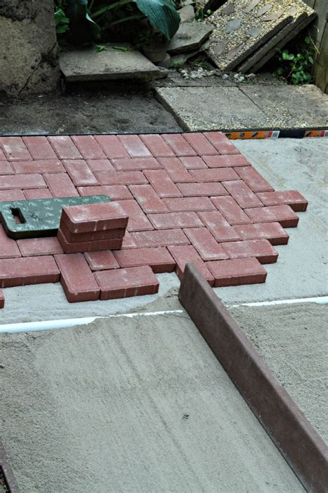 Diy Brick Patio diy brick patio tutorial backyard makeover