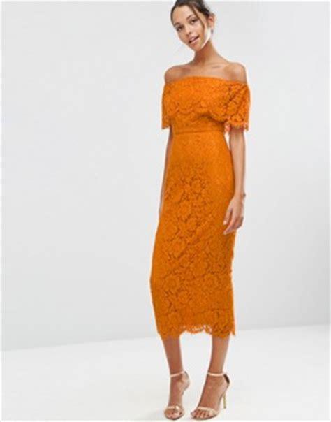 Meya Maxi Mustard bardot dresses the shoulder dresses asos