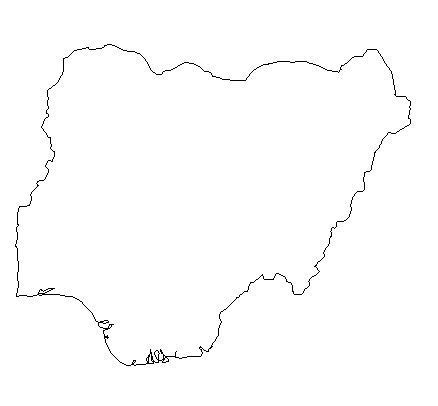 nigeria map coloring page blank outline map of nigeria schools at look4