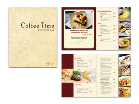 menu book design layout coffee time menu book gift voucher by sherly gunawan