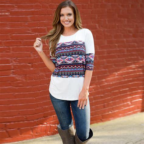 Crisp Feminine Top 3 by Fanala Fashion T Shirt T Shirt Brand Tops 3 4 Sleeve