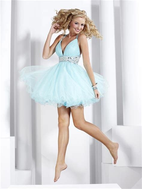 Short Light Blue Dress light blue short prom dress