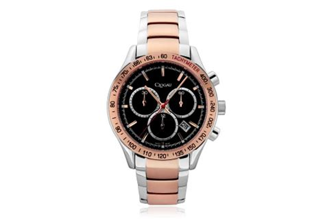 mens stainless steel and steel sports clogau gold