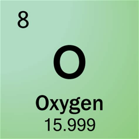 oxygen chemical elements