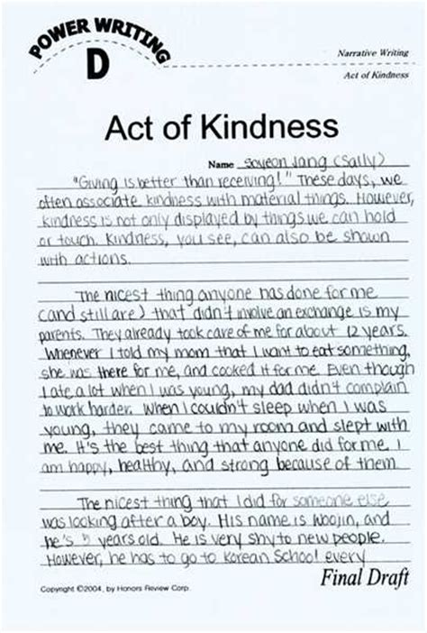 Act Of Kindness Essay 3 ways not to start a random act of kindness essay