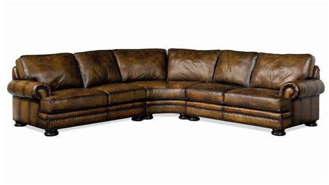 leather nailhead sectional bernhardt foster leather sectional sofa with nailhead trim