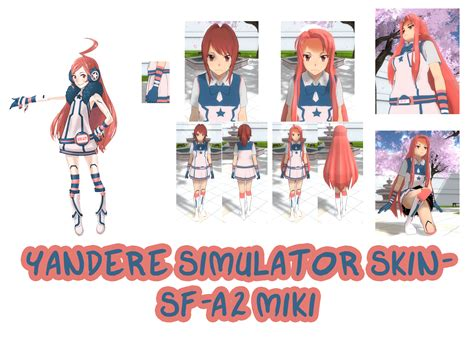 Miku Miku Sweater Sf yandere simulator sf a2 miki skin by imaginaryalchemist