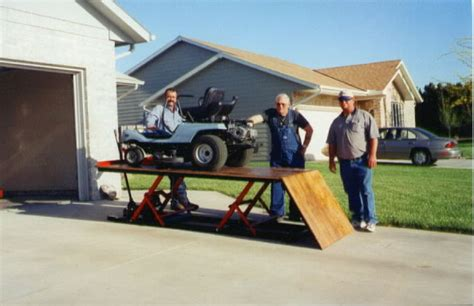 lawn mower repair lift table more pictures