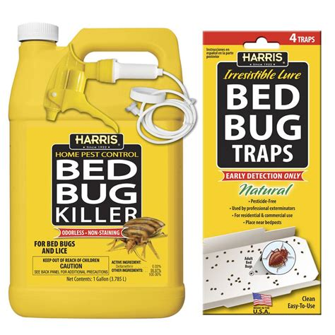 bed bug catcher harris 1 gal bed bug killer and bed bug trap value pack