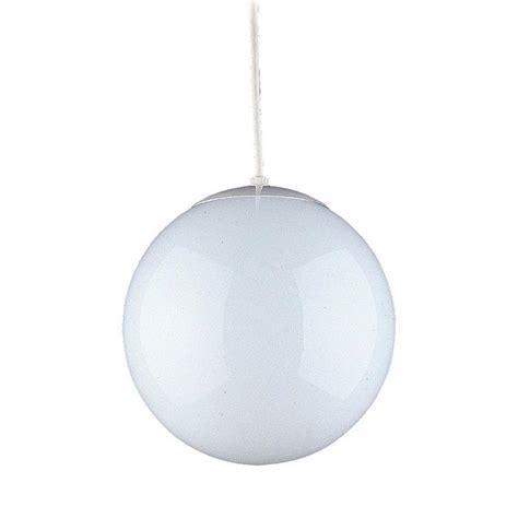 hanging light not hardwired shop sea gull lighting hanging globe 14 in white