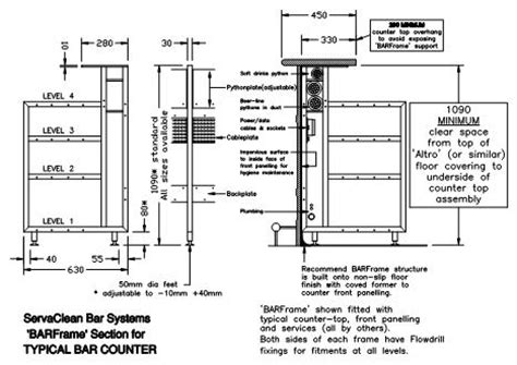 bar section plan and section drawing pdf getpaidforphotos com