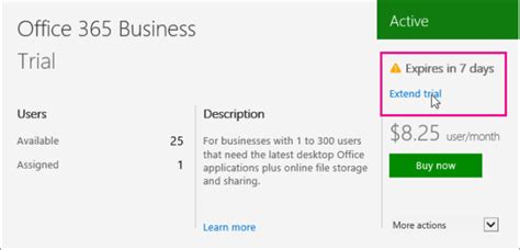 extend your trial for office 365 for business office 365