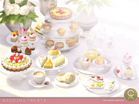 Wedding Cake On Sims 4 by Wedding Treats For The Sims 4 The Sims 4 Downloads Cc