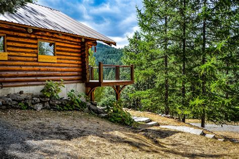 Cabin In The Woods Free by Rustic Cabin In The Woods Landscape Image Free Stock