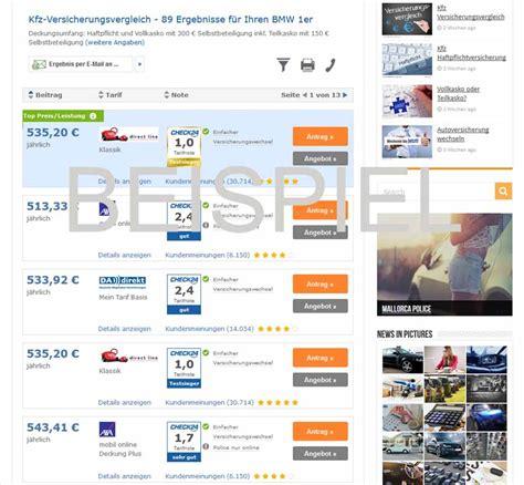 Autos Billig In Versicherung by Bmw 1er Versicherung Jetzt Kfz Versicherung Vergleichen