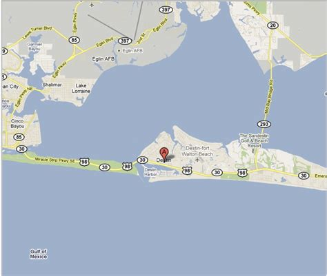 map of destin florida area february 2011 one perspective among many