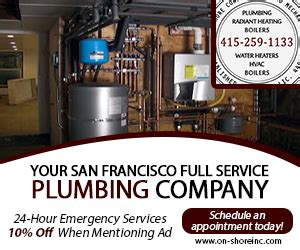 Plumbing Contractor San Francisco Ca by On Shore Plumbing And Boilers Chamberofcommerce