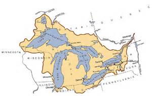 map of us with great lakes labeled water uses reference report