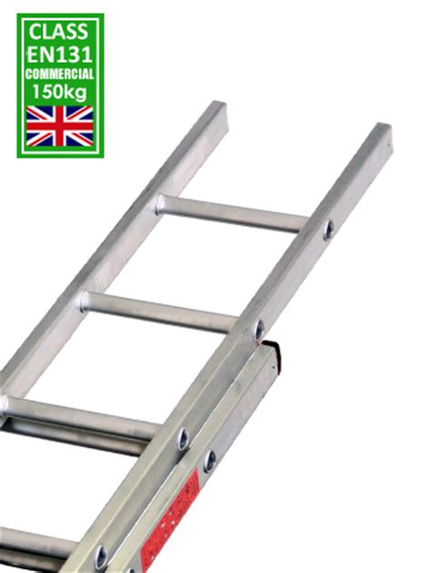 Tangga Scaffolding 2 extension ladder 2 section 150kg ladders