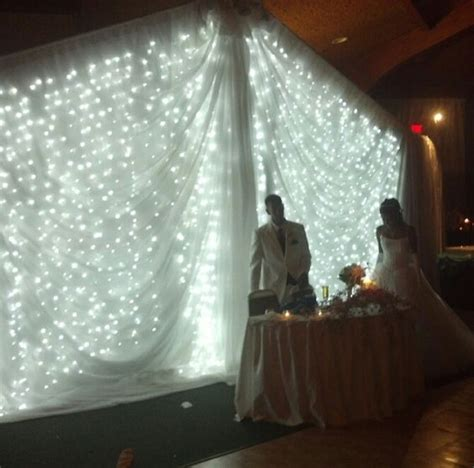 wedding backdrop sheets light backdrop for wedding table can diy by draping