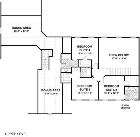 the highland 1034 4 bedrooms and 4 baths the house designers