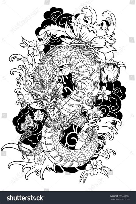 dragon tattoo novel hand drawn dragon tattoo coloring book japanese style