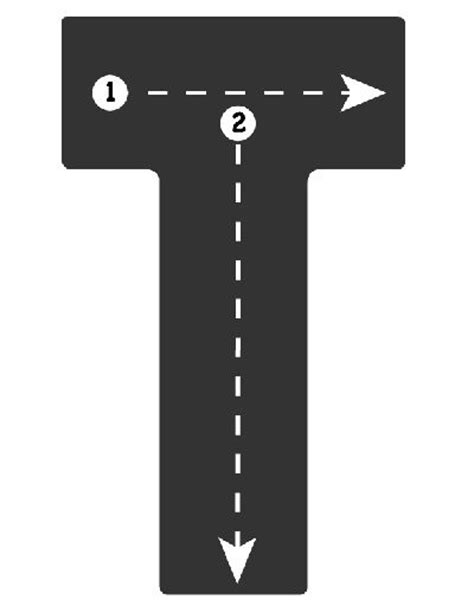 printable highway letters drive the alphabet highway tracing roads letter t road