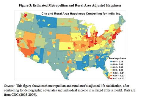 happiest states the 5 happiest cities in america are in the state you d