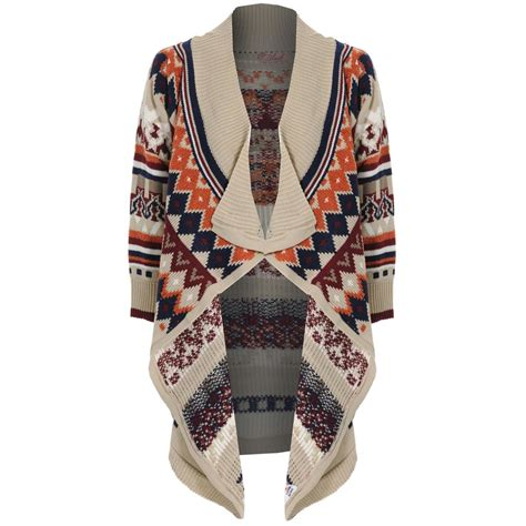 Twist Tribal Sweater tribal print cardigan uk sweater vest