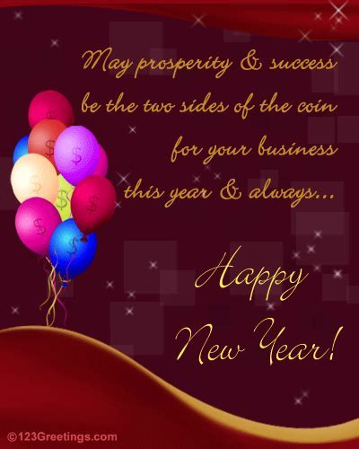 New Year Business Greeting  Free Business Greetings