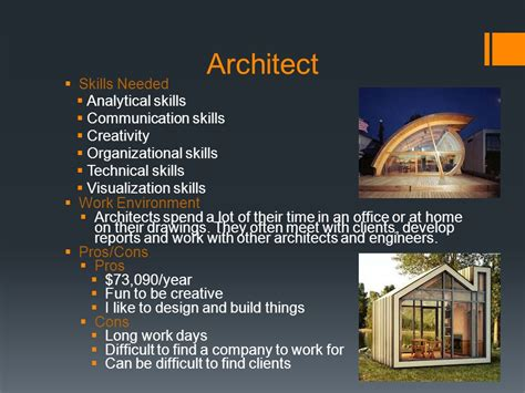 skills needed to be an architect home design