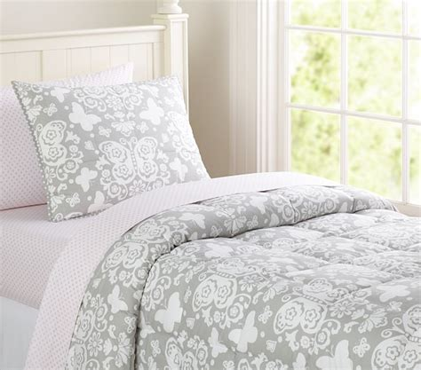 butterfly loft quilted bedding pottery barn kids