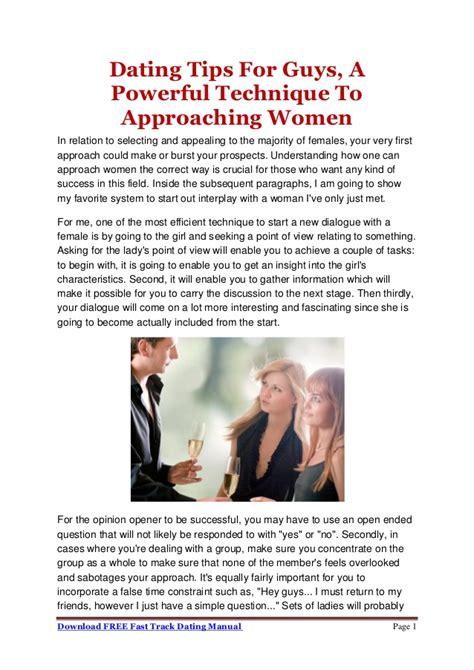 Dating tips for guys pdf converter