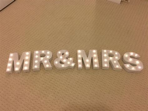 small light up letters mr mrs small marquee letters light up letters rental