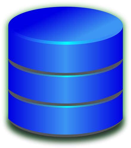 Blau Datenbank Symbol Vektor Bild   Public Domain Vektoren