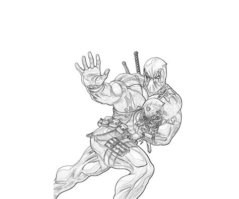 marvel deadpool coloring pages free coloring pages of marvel ultimate deadpool