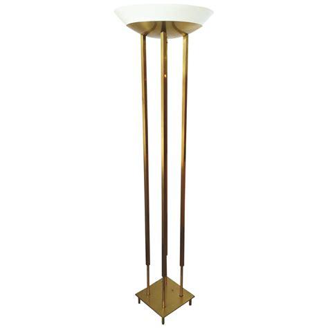 modern brass floor l mid century modern brass floor torchiere l style of