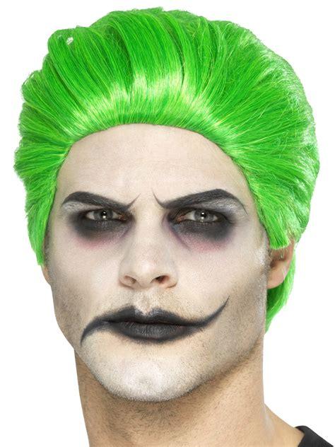 male wigs variety of colours fancy dress accessory 50 s 60 mens joker wig green halloween fancy dress costume