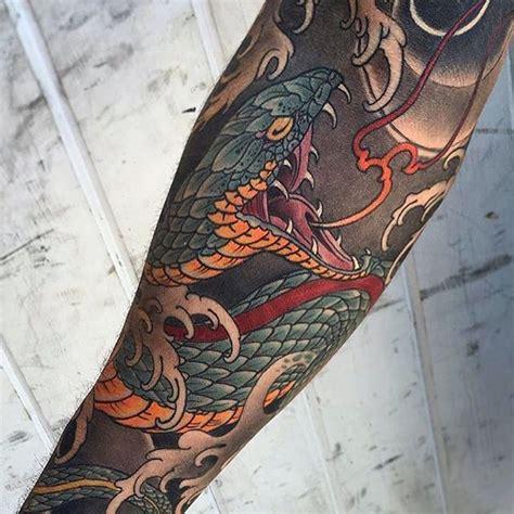 tattoo serpent oriental the 25 best japanese snake tattoo ideas on pinterest