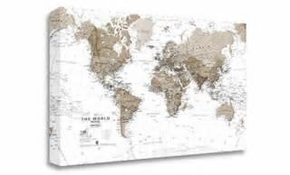 Canvas World Map by Canvas Art World Map Neutral Wm275c Maps International