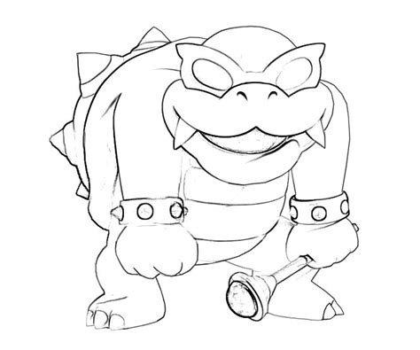 Iggy Koopa Free Colouring Pages Koopa Coloring Pages
