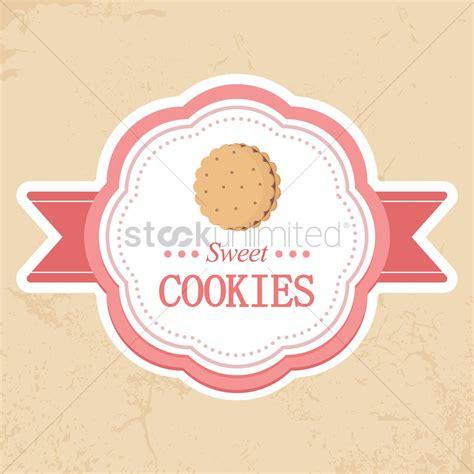 Sweet Cookies Label Vector Image 1442944 Stockunlimited Cookies Label Template